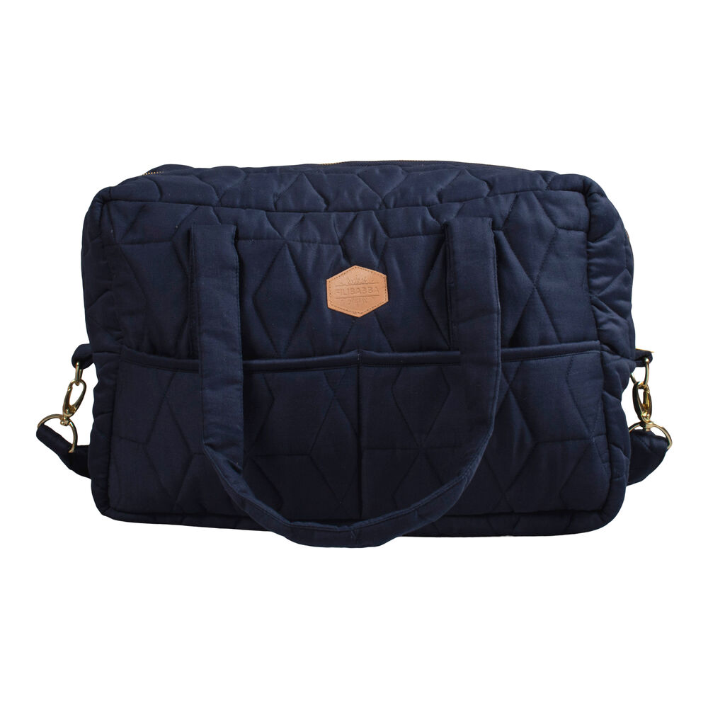 Image of   Filibabba Quiltet Pusletaske - Dark Blue