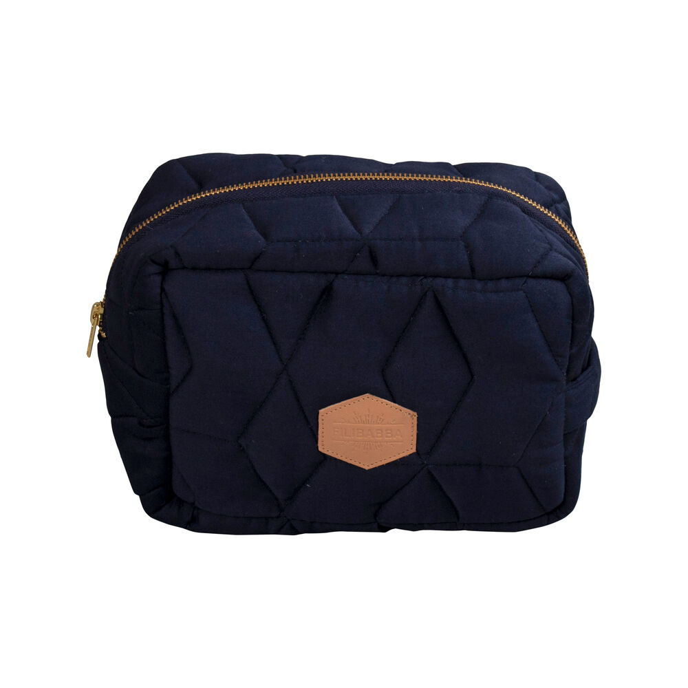 Image of   Filibabba Quiltet Toilettaske - Dark Blue
