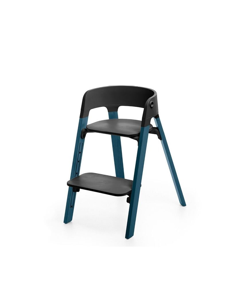 Image of   Stokke® Steps™ Højstol, Bøg - Midnight Blue