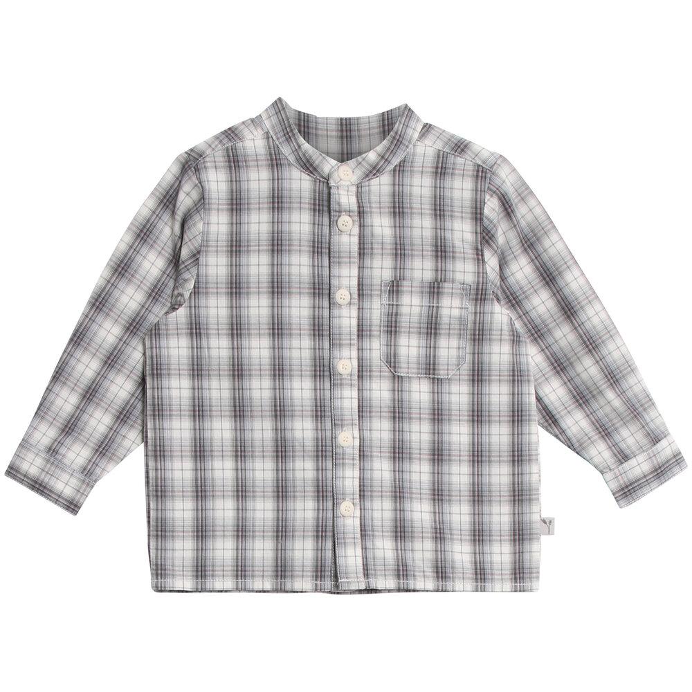 Wheat Langærmet Skjorte Med Lomme - 1292 Greyblue thumbnail