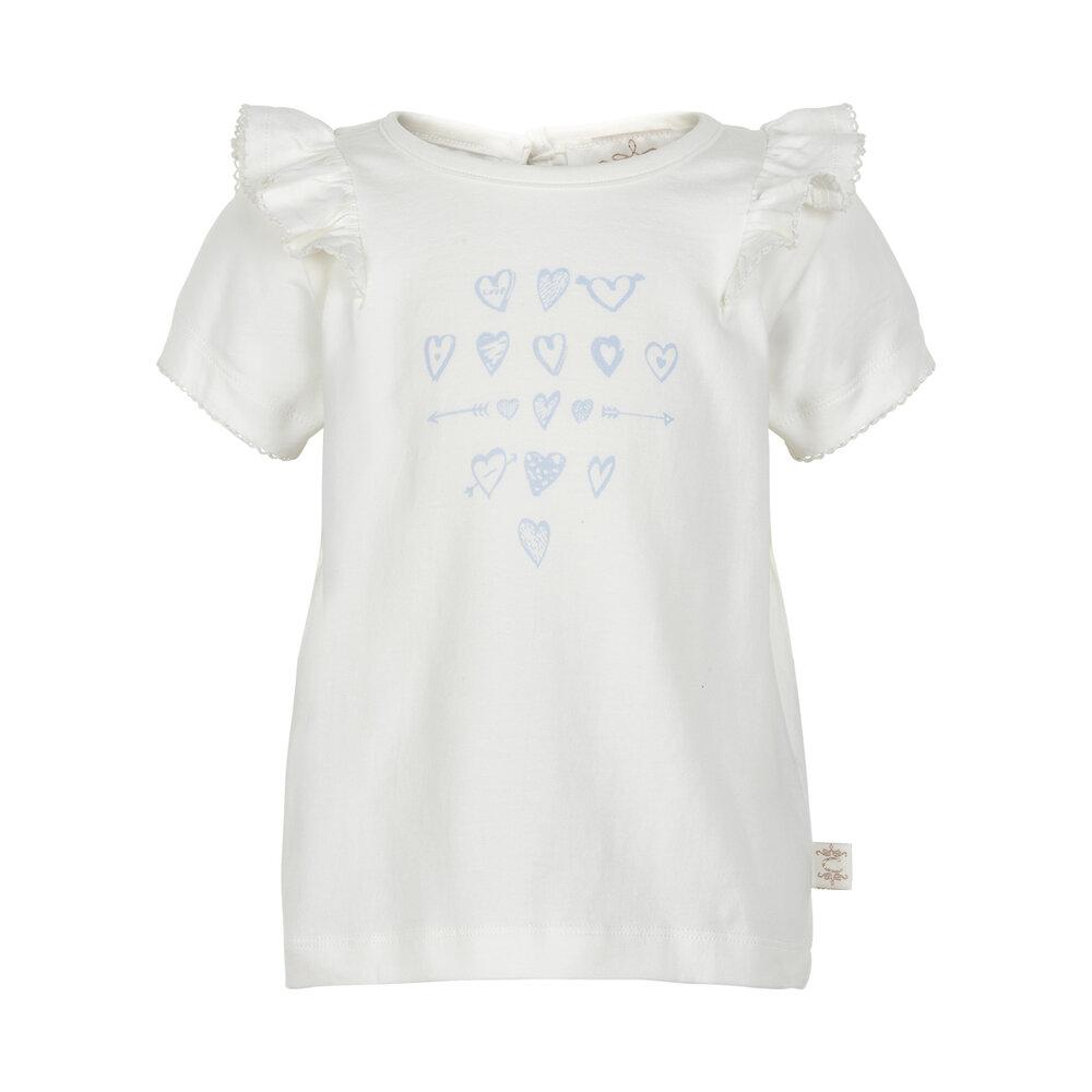 Image of   Creamie Kortærmet T-Shirt Med Flæser - 1103 Cloud