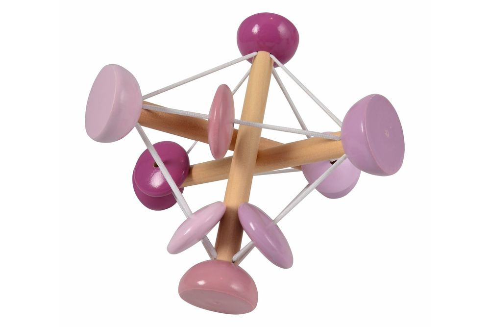 Image of   Magni Elastik rangle i træ - lyserød