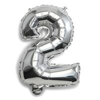 Folie Ballon 2-Tal Sølv