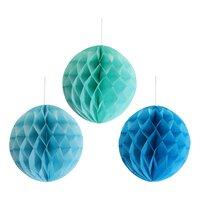 Papirbolde 6 stk - Blå/Grøn