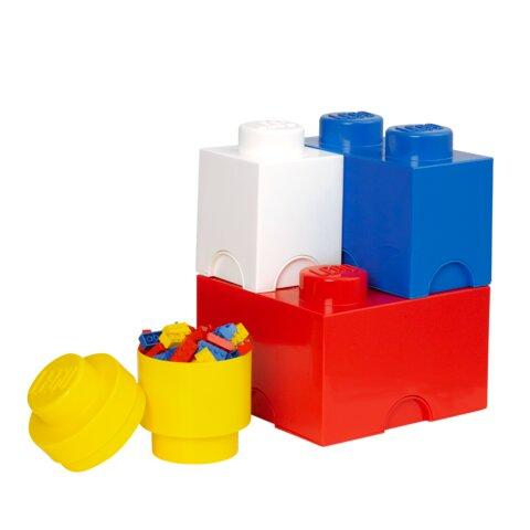 Opbevaringssæt 4 Pak - Brick 1, 2, 4, rund
