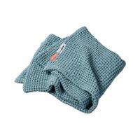 Waffel tæppe - Blå