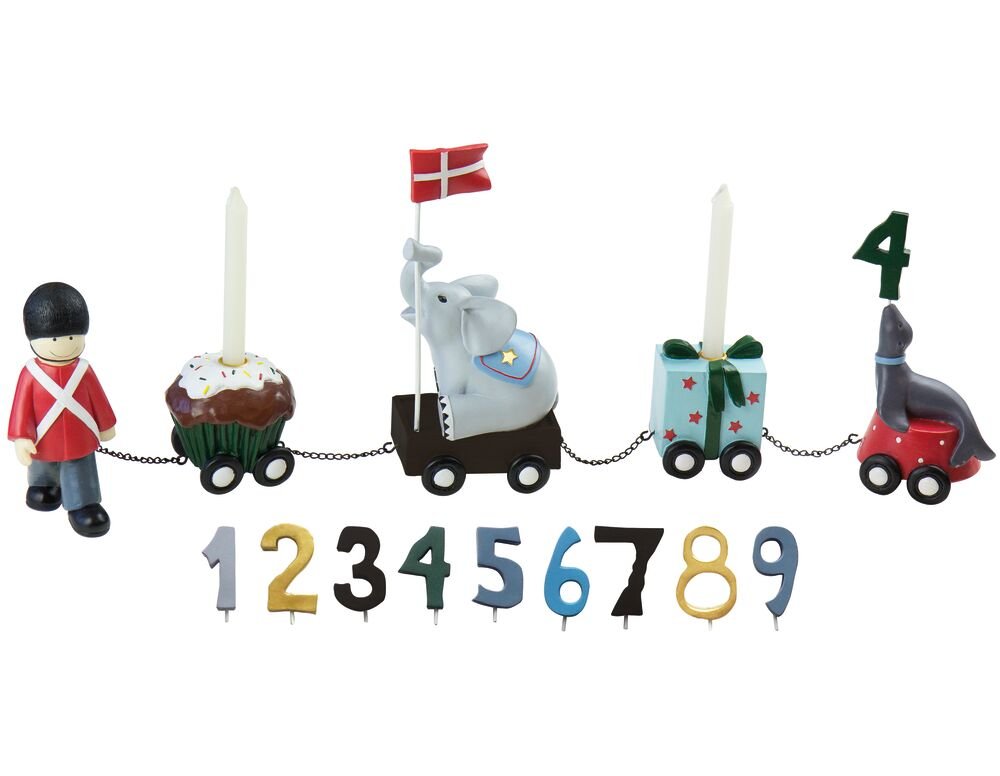 Image of   Kids By Friis Fødselsdagstog garder m. 9 tal
