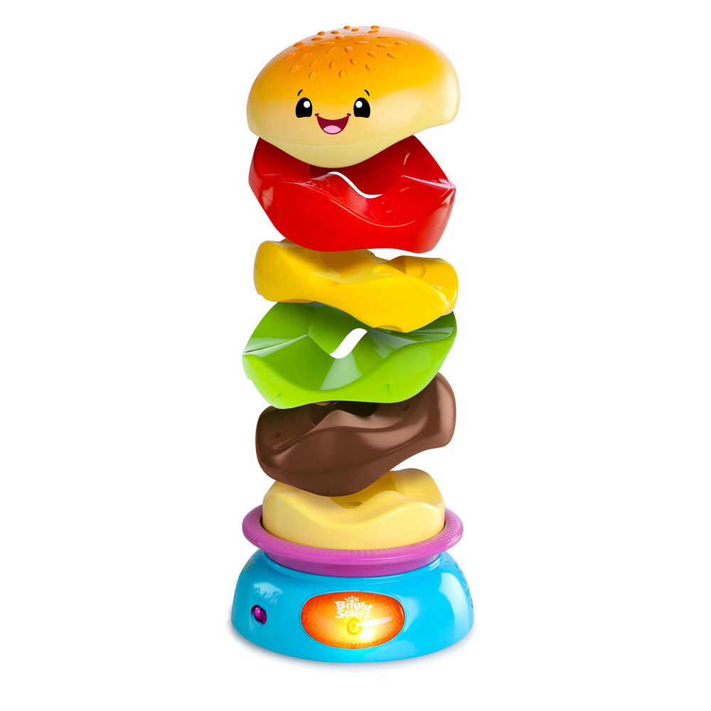 Image of   Bright Starts Stack n Spin Burger