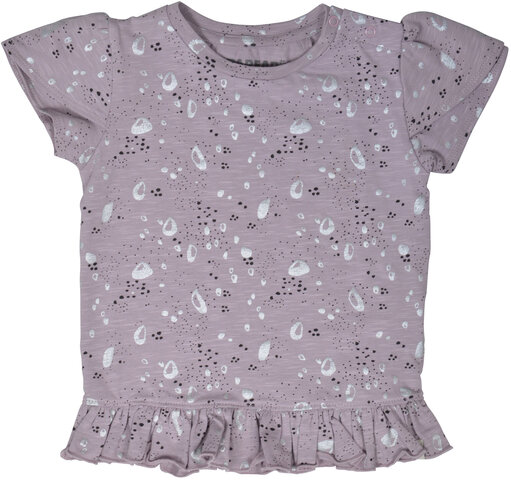 Bluse Med Sølvprint - 703 Cloud Lilac