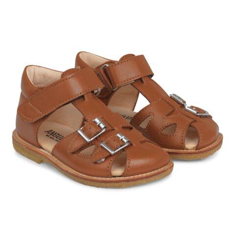 Begynder Sandal Med Velcro Og Spænder - 1431