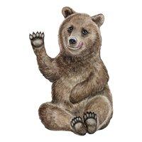 Vægdekoration bjørnen bruno - stor
