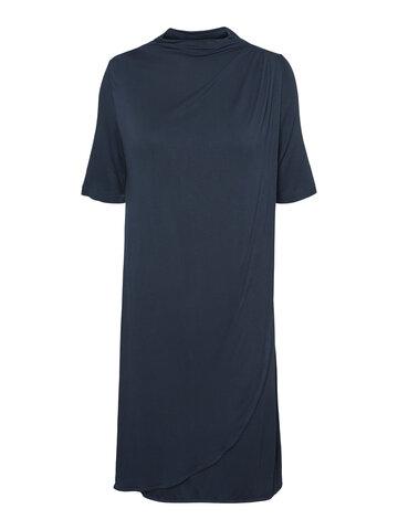 Edna Iris Jersey Kjole - orion blue