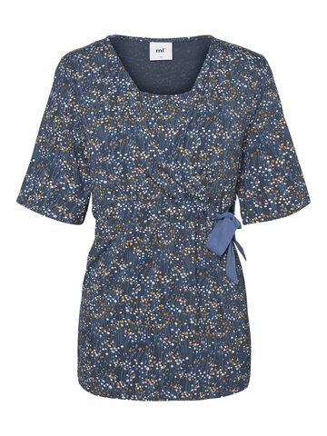Carlotta Tess Jersey Top - orion blue