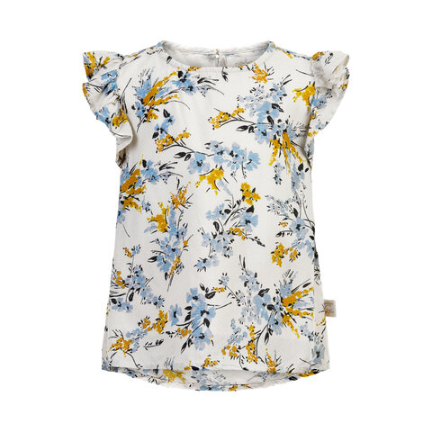 Bluse blomster dobby - 1103