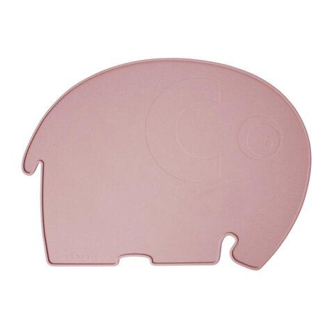 Silikone dækkeserviet, elefanten Fanto, pink
