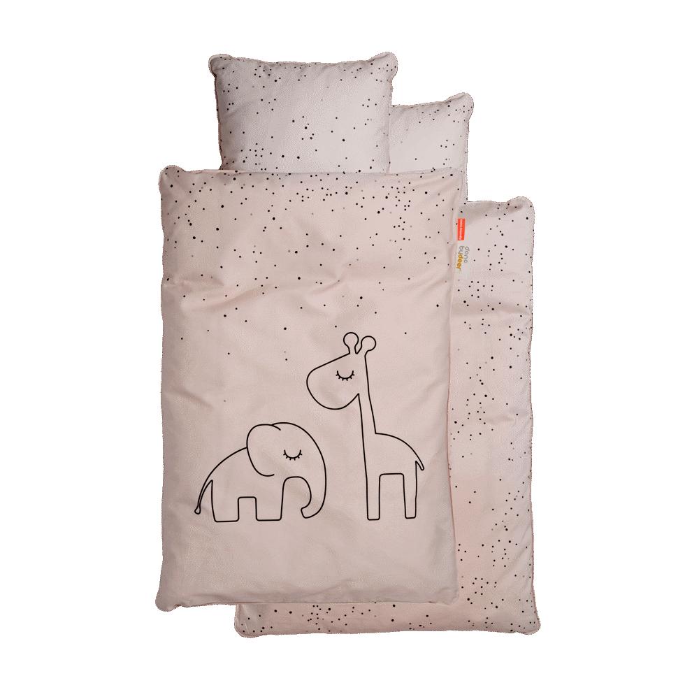 Done By Deer Junior Sengetøj Dreamy Dots Pudder - Dyne & pudebetræk - Done By Deer