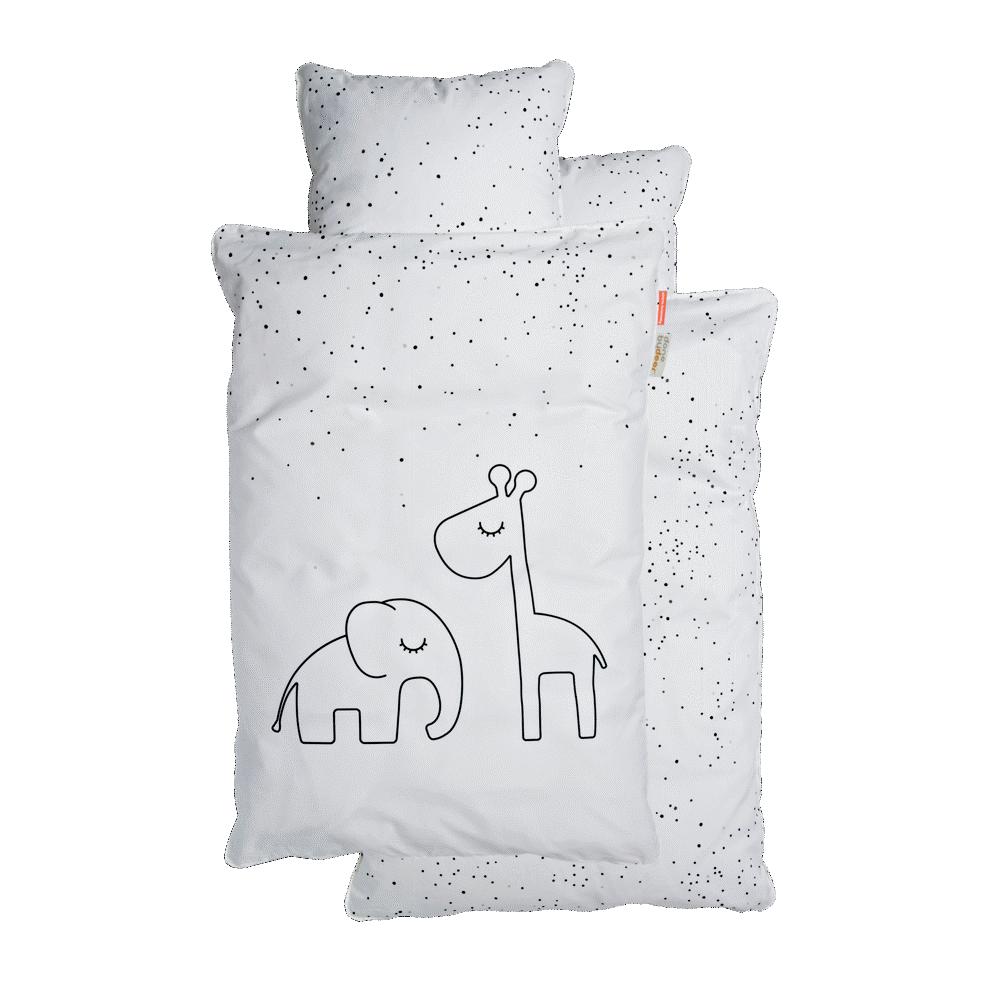 Done By Deer Junior Sengetøj Dreamy Dots Hvid - Dyne & pudebetræk - Done By Deer