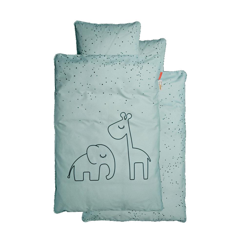Done By Deer Junior Sengetøj, Dreamy Dots Blå - Dyne & pudebetræk - Done By Deer