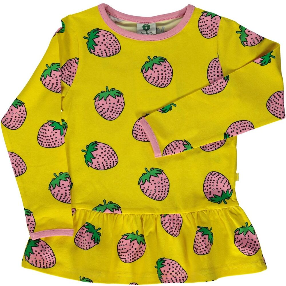 Småfolk T-Shirt Med Jordbær - 434 - Overdele - Småfolk