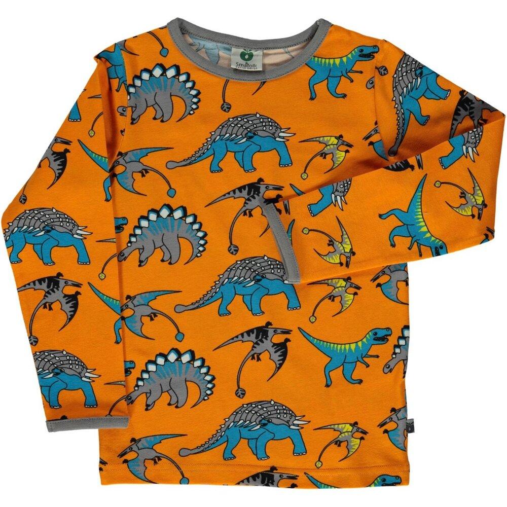 Småfolk T-Shirt Med Dinosaurus - 401 - Overdele - Småfolk