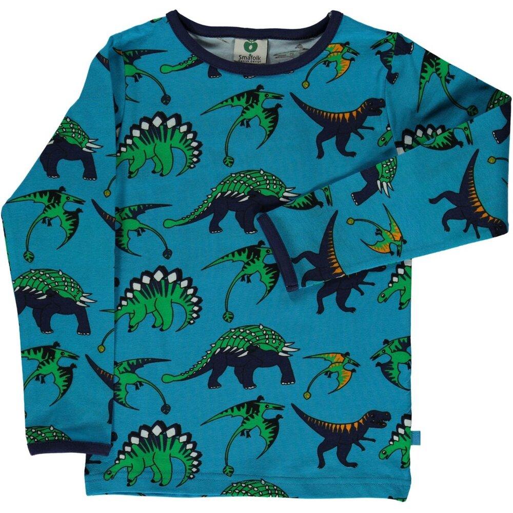 Småfolk T-Shirt Med Dinosaurus - 719 - Overdele - Småfolk