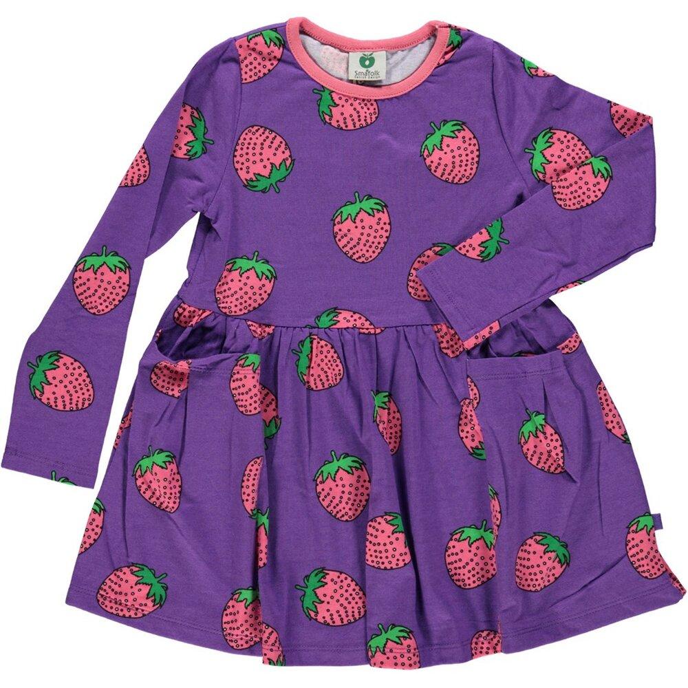 Småfolk Kjole Med Jordbær - 609 - Kjoler/Nederdele - Småfolk