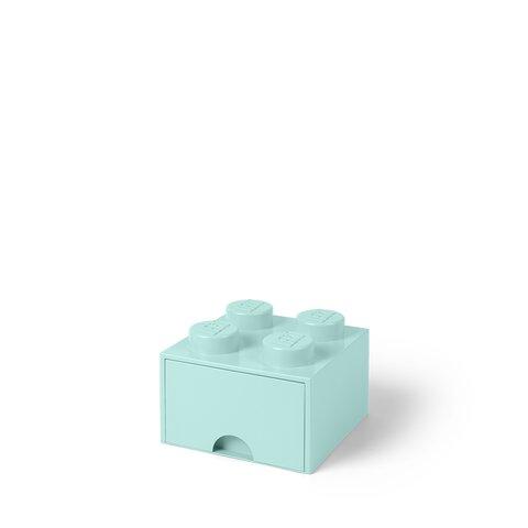 LEGO Opbevaringsskuffe Brick 4 - Aqua Blå