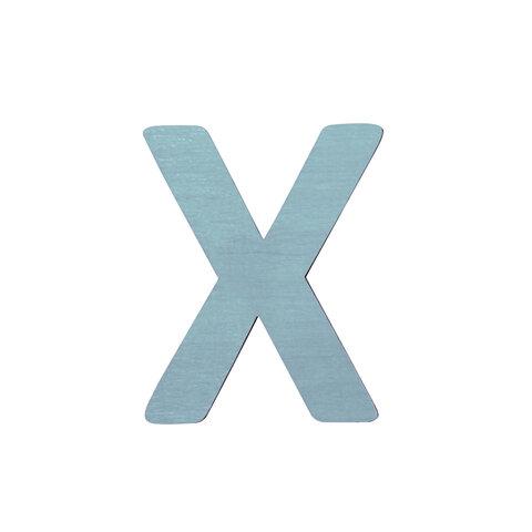 X - Træbogstav - Petrol