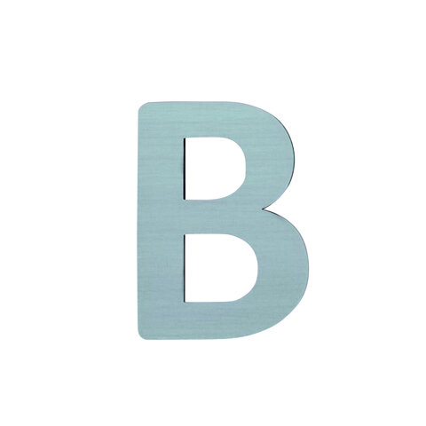 B - Træbogstav - Petrol