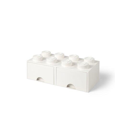 LEGO Opbevaringsskuffe Brick 8 - Hvid