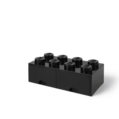LEGO Opbevaringsskuffe Brick 8 - Sort