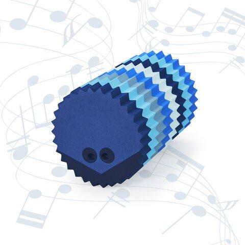 bObles pindsvin med lyd - multi blå