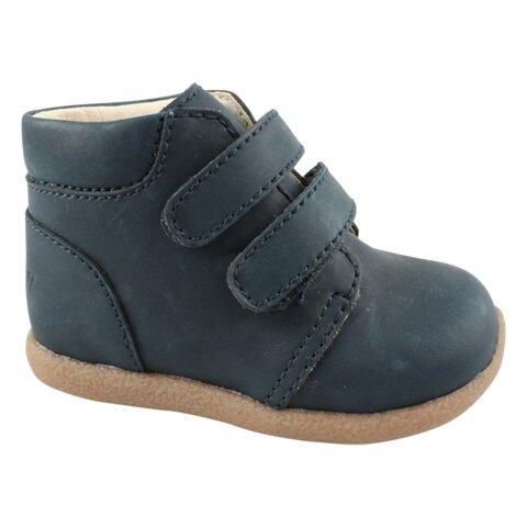 Begynder sko med Velcro - Navy-04
