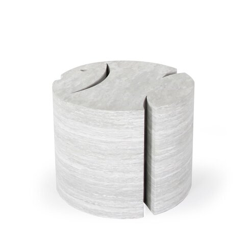 Fisk marmor lys grå