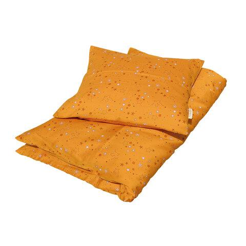 Sengetøj baby Stars, Golden mustard