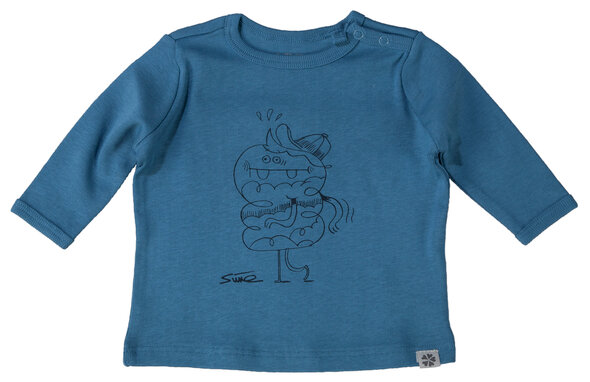 Langærmet T-Shirt - Dark Blue/270