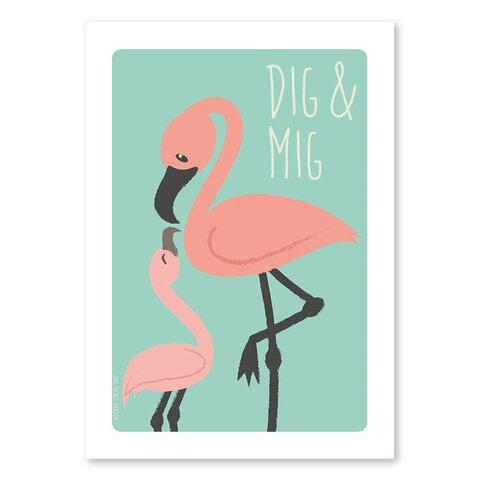 Plakat - Flamingo - A4