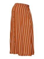 Sinem midi nederdel - Leather Brown