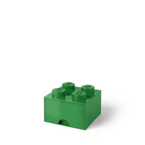 LEGO Opbevaringsskuffe Brick 4 - Mørk Grøn