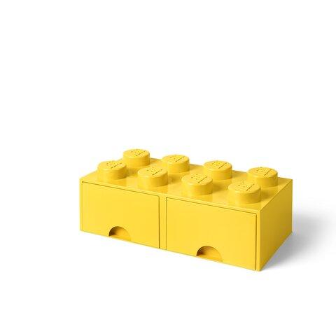 LEGO Opbevaringsskuffe Brick 8 - Bright Gul