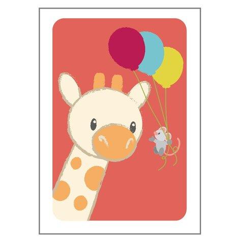 Giraf Og Mus Plakat - 21x30 Cm