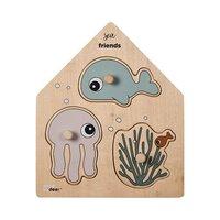 Knoppuslespil i træ, Sea friends