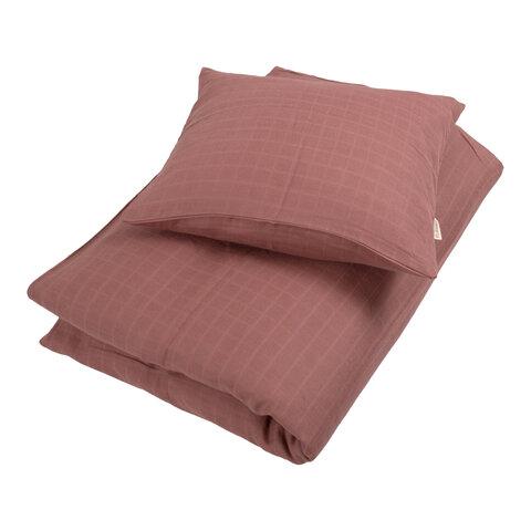 Muslin sengetøjJunior, Dusty rose