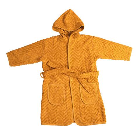 Badekåbe Zigzag 1-2 år, Golden mustard