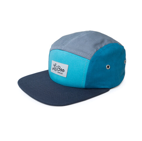 5-Panel kasket - Block Blue