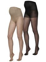 Malou strømpebuks 2-pak - Black/Tan