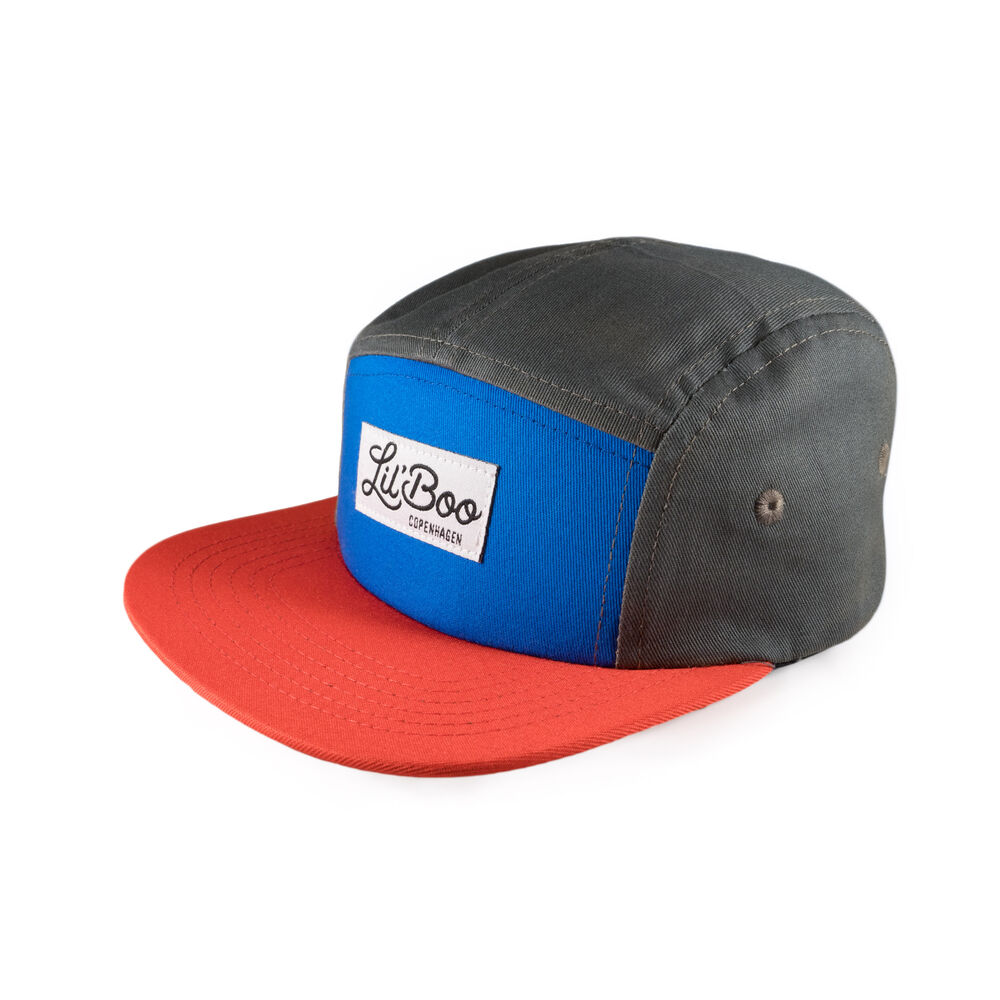 Image of Lil' Boo 5-Panel kasket - Block Red (c1ffaab8-3aae-47fb-b93a-282081eccc8e)