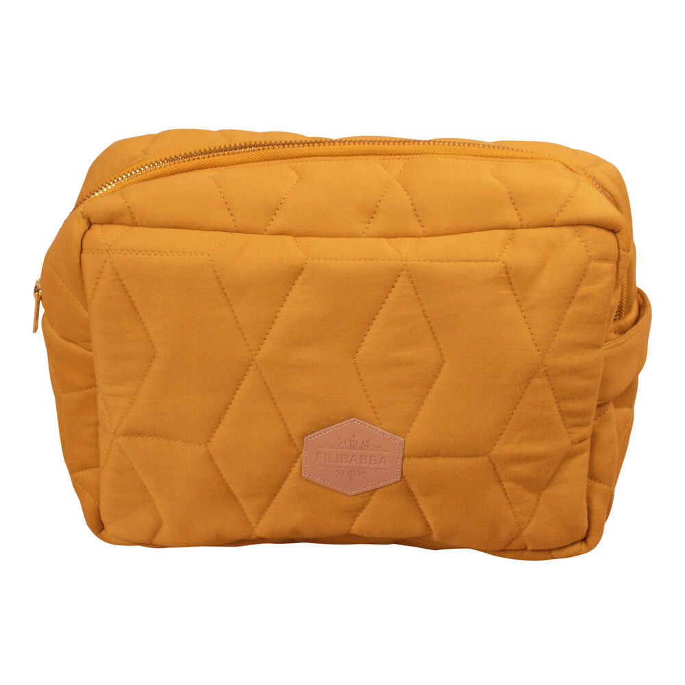 Image of   Filibabba Toilettaske Stor Soft quilt, Golden mustard