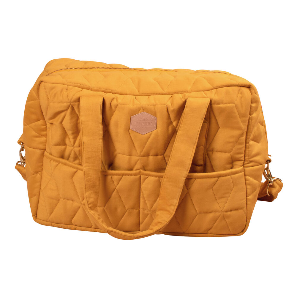 Image of   Filibabba Mommybag soft quilt Golden Mustard