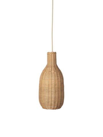 Flettet lampeskærm - Bottle - Natural